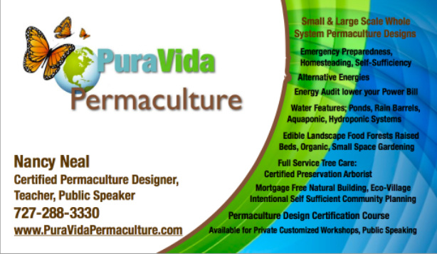 Permaculture Design, Permaculture Designer Clearwater, Permaculture Design Pinellas County